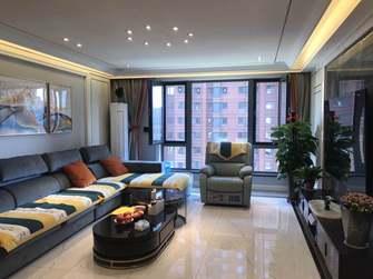 130平米三室三厅轻奢风格客厅效果图