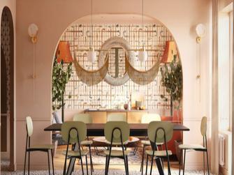 经济型80平米东南亚风格餐厅装修效果图
