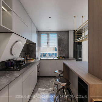 10-15万90平米现代简约风格厨房效果图