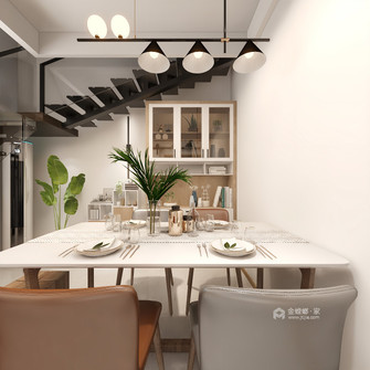 豪华型140平米复式北欧风格餐厅图片大全