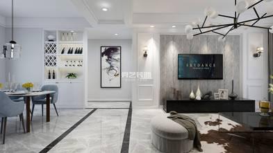 120平米四室两厅美式风格客厅效果图