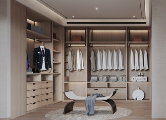 20万以上140平米四室一厅中式风格衣帽间图片大全