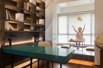 经济型100平米三室两厅现代简约风格书房装修效果图
