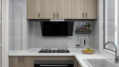 20万以上130平米三室一厅北欧风格厨房欣赏图