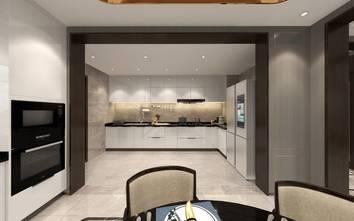 110平米三室两厅中式风格厨房装修案例