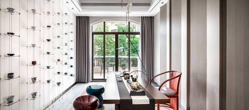 20万以上140平米三室两厅中式风格阳光房设计图