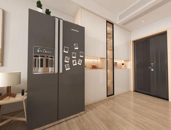经济型110平米三室两厅日式风格玄关图