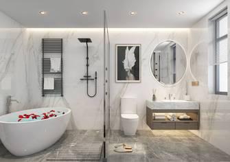 140平米三室一厅现代简约风格卫生间图片