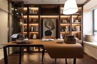 富裕型140平米三室两厅美式风格书房欣赏图