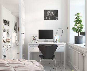 5-10万60平米一居室北欧风格卧室装修图片大全