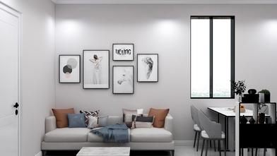 110平米一室一厅美式风格卧室欣赏图