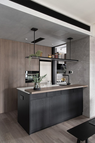 经济型60平米一室一厅现代简约风格餐厅装修效果图