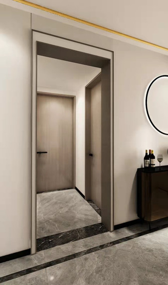 20万以上140平米四室一厅混搭风格玄关图片