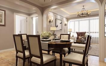 豪华型140平米四室两厅现代简约风格餐厅装修效果图