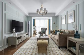 经济型100平米三室一厅美式风格客厅设计图