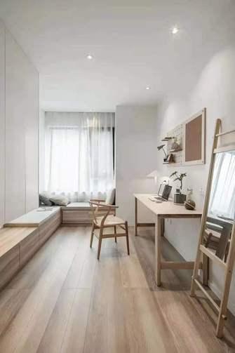 经济型80平米三室两厅日式风格书房装修图片大全