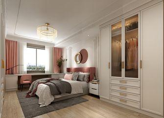 经济型110平米三室两厅法式风格卧室装修效果图