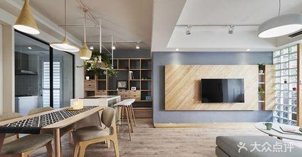 10-15万70平米北欧风格客厅装修图片大全