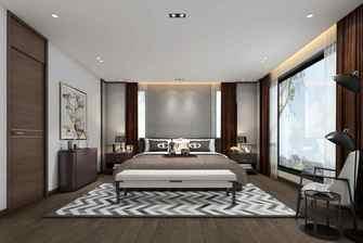 20万以上140平米别墅港式风格卧室图