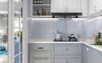 经济型130平米三室一厅地中海风格厨房图片