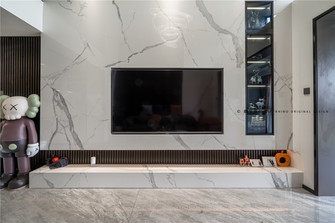 140平米复式轻奢风格客厅效果图