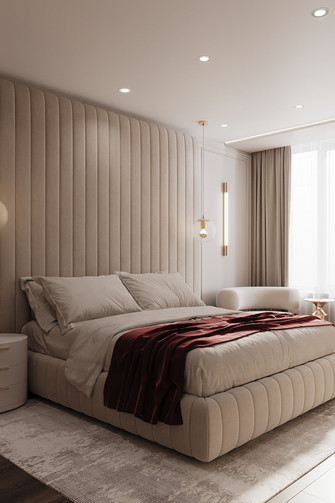 20万以上100平米三室两厅现代简约风格卧室装修图片大全