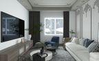 80平米欧式风格客厅装修案例