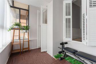 富裕型100平米三室两厅美式风格阳台图片大全