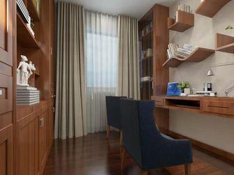 经济型100平米三中式风格书房图