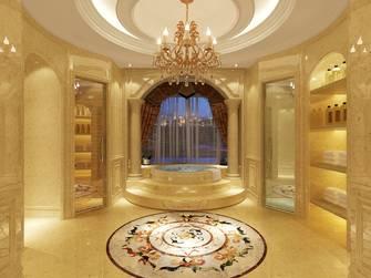 20万以上140平米别墅英伦风格卫生间装修效果图