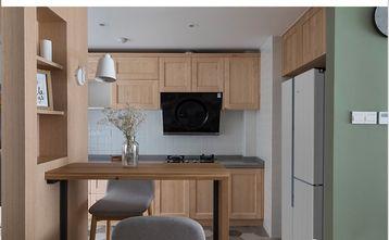 富裕型120平米三室两厅日式风格厨房装修图片大全