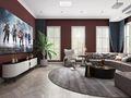 豪华型140平米四美式风格影音室装修效果图
