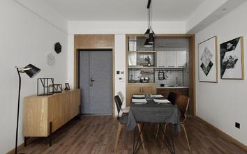 经济型50平米公寓北欧风格餐厅设计图
