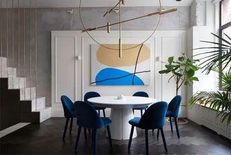 110平米三室一厅工业风风格餐厅效果图