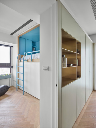 经济型三室两厅北欧风格走廊设计图