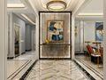 120平米三室两厅美式风格玄关图片大全