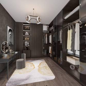 富裕型120平米三室两厅地中海风格衣帽间图片