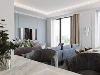 富裕型120平米三北欧风格客厅装修案例