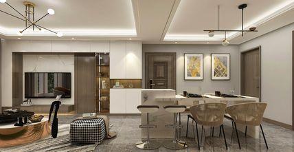 120平米三室两厅轻奢风格客厅欣赏图