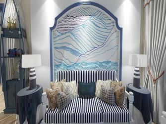 富裕型80平米三室两厅地中海风格客厅设计图