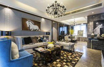 富裕型110平米三室两厅轻奢风格客厅装修案例