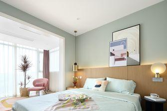 富裕型100平米三室两厅北欧风格卧室图