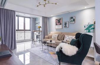 经济型110平米三室一厅北欧风格客厅图片