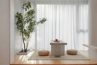 富裕型110平米三室一厅日式风格阳台欣赏图