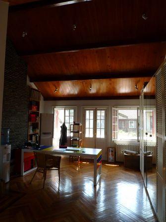 140平米复式田园风格书房设计图