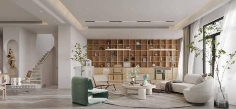 20万以上140平米复式法式风格客厅图片