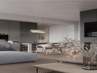 经济型130平米三室两厅北欧风格客厅装修案例