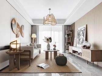 富裕型110平米三室两厅田园风格客厅设计图