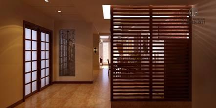 豪华型140平米别墅美式风格楼梯间装修图片大全