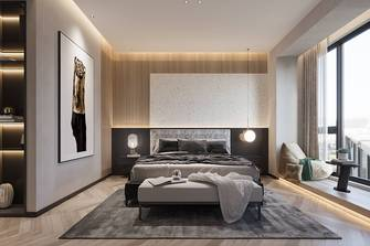 豪华型140平米三室两厅田园风格卧室图片